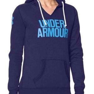 Under Armour Purple Wordmark Hoodie Sweatshirt